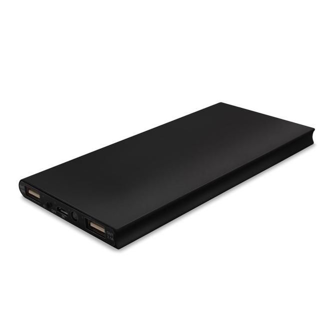 Powerbank Alu Flat EXPRESS 8.000 mAh 2 x USB Ausgang