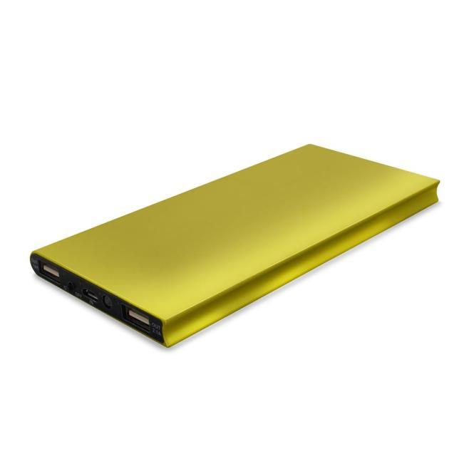 Powerbank Akku Alu Flat 8000 MAH Gold