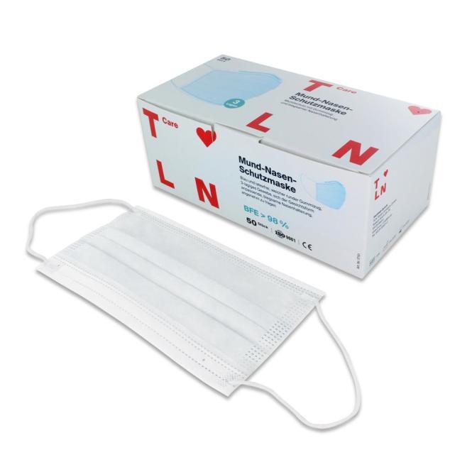 Einmal-Atemschutzmaske MNS nach EN 14683 Typ IIR