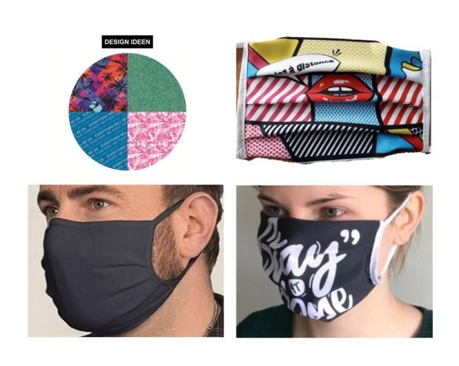 Bandana-Gesichtsmaske aus Baumwollgemisch