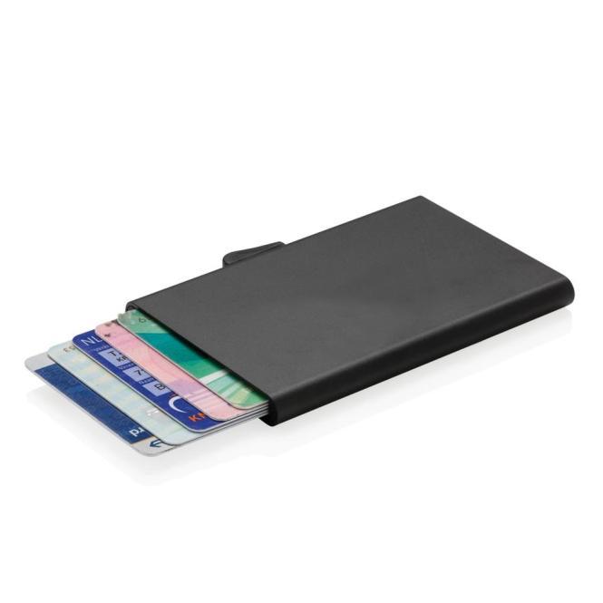 C-Secure Aluminium RFID Kartenhalter, schwarz