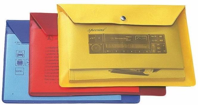 """CreativDesign Wagenpapiertasche """"Folie3"""" gelb"""