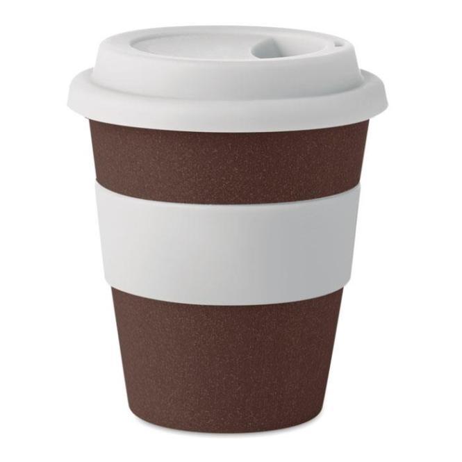 BRAZIL WHITE Becher aus Kaffeehülsen 350ml